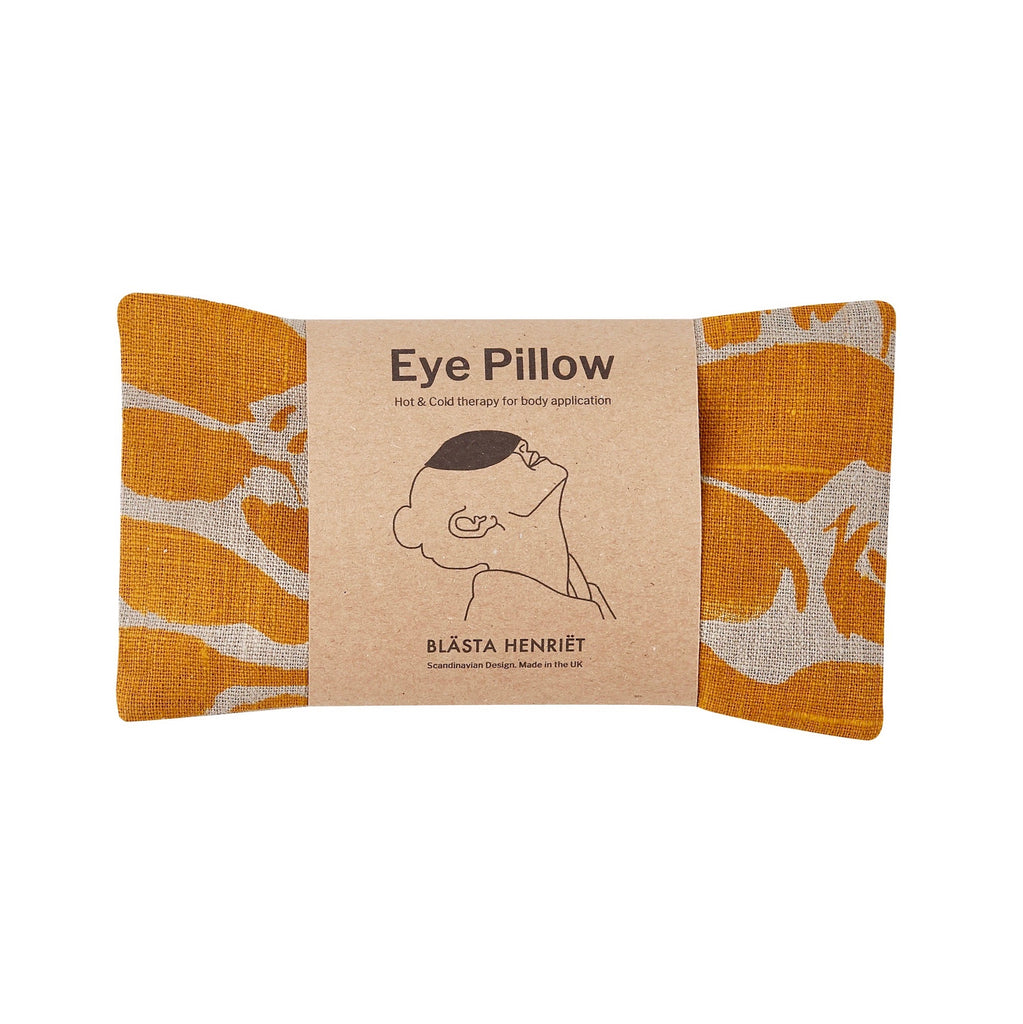 Mustard Linen Hot and Cold Eye Pillow