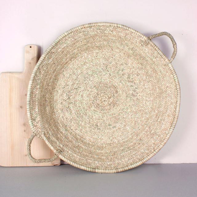 Moroccan Oversized Woven Plate - Medium