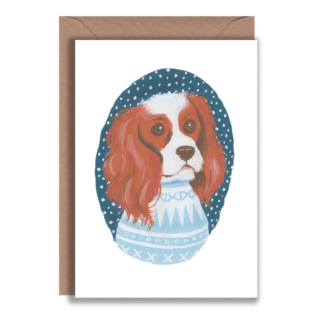Spaniel Christmas Jumper Card