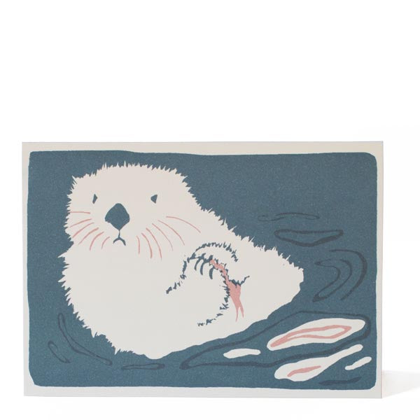 Sea Otter Greetings Card