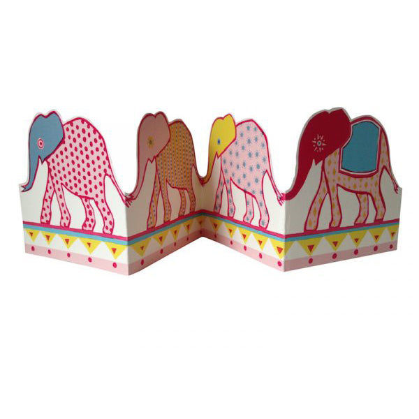 Carnival Of Elephants Concertina Card