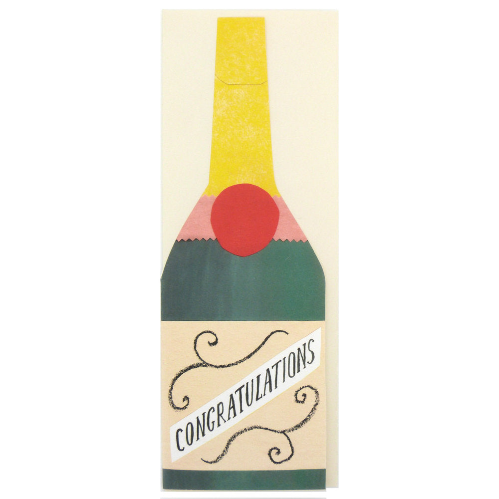 Champagne Congratulations Card