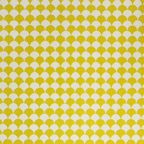 Acid Yellow 'Clamshell' Wrapping Paper