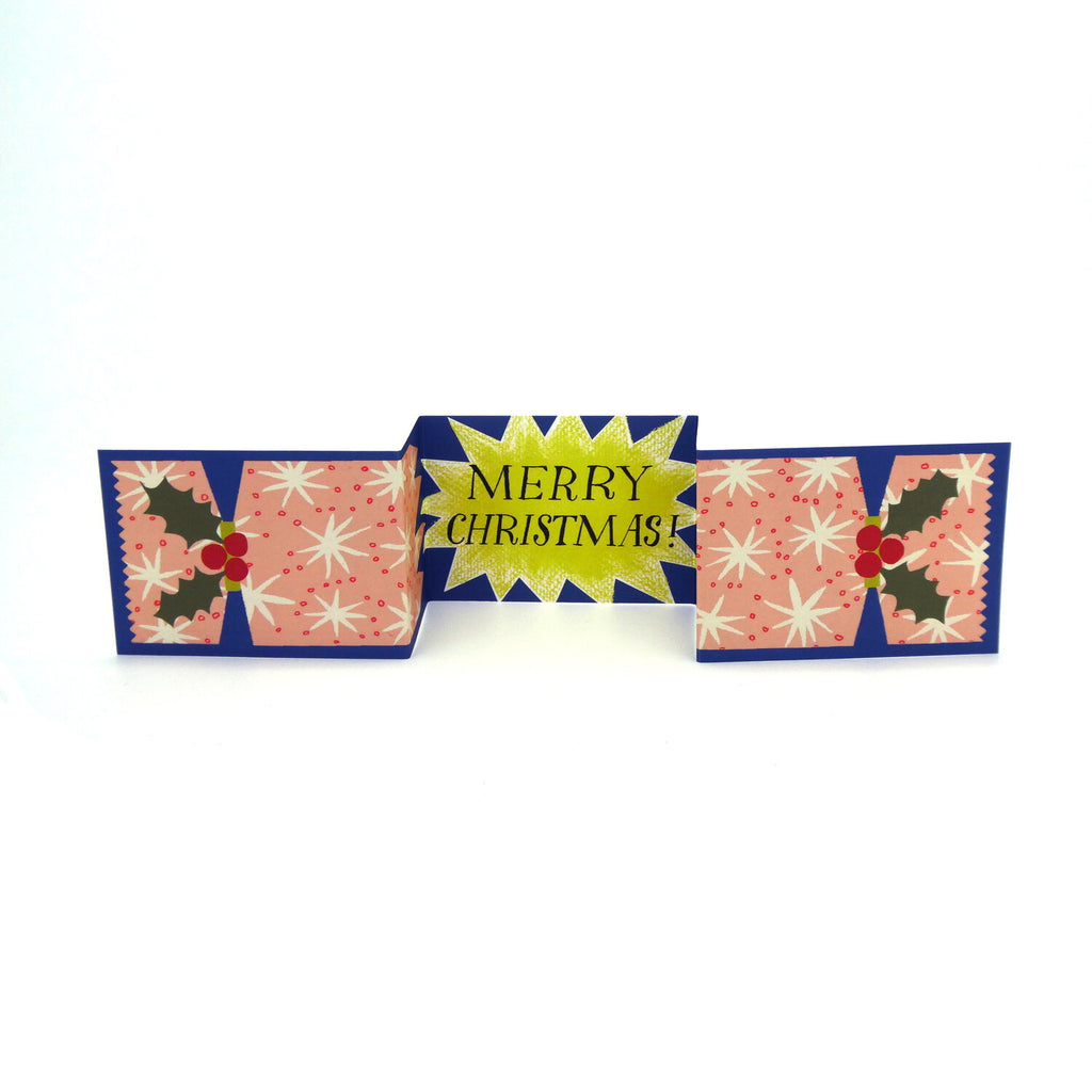 Starburst Cracker Pull Out Christmas Card