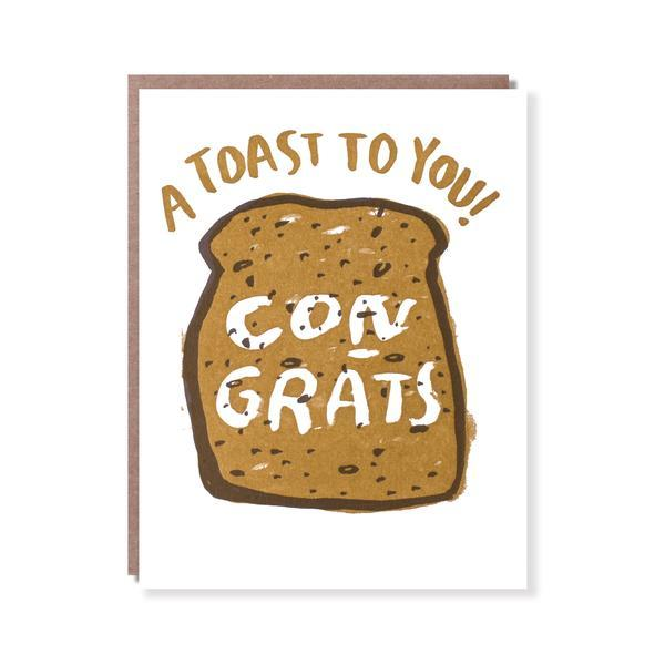 Literal Toast Congrats Greetings Card