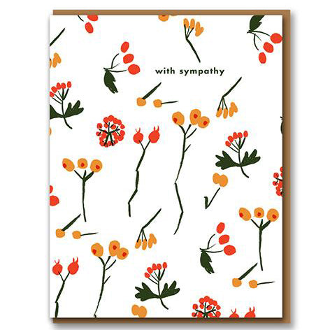 Berry With Sympathy Card