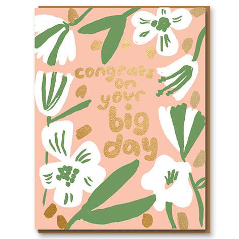 Congrats on Your Big Day Greetings Card