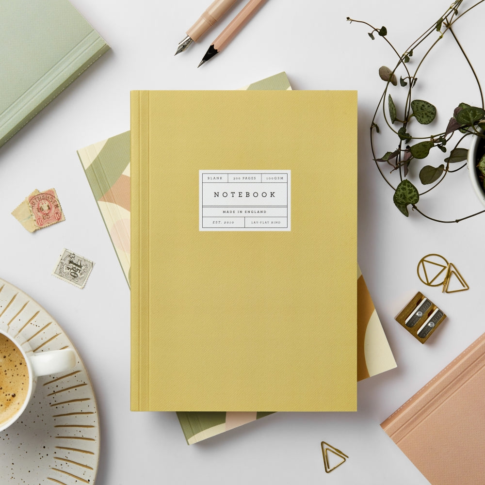Lay-flat Notebook Vol 04: Mustard