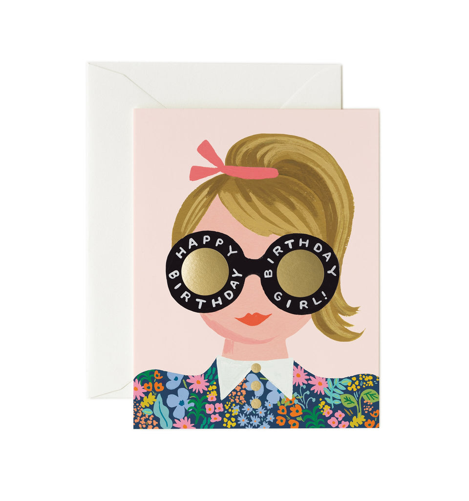 Meadow Birthday Girl - Greetings Card by Rifle Paper Co