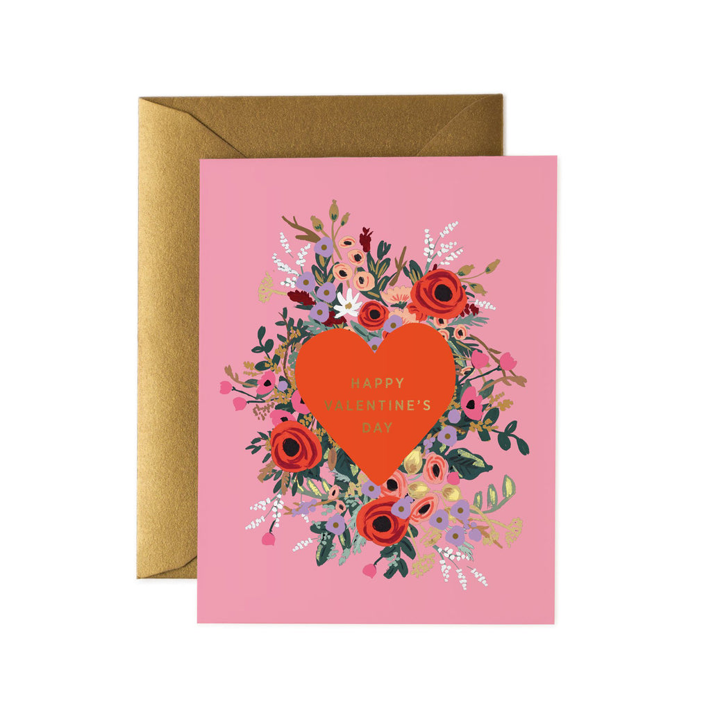 Blooming Heart - Valentines Greetings Card by Rifle Paper Co