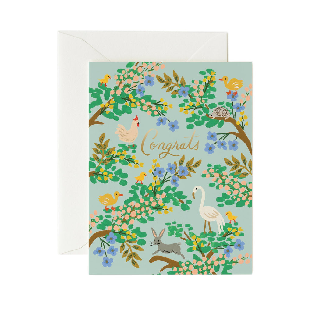 Congratulations Forest - Greetings Card by Rifle Paper Co
