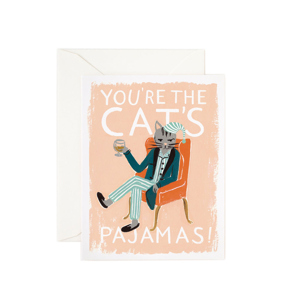 The Cat's Pajamas - Valentines Greetings Card by Rifle Paper Co