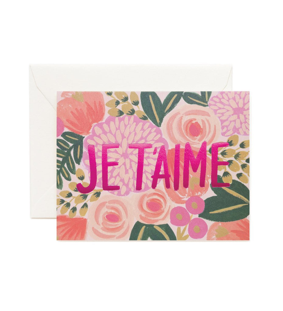 Je T'aime - Valentines Greetings Card by Rifle Paper Co