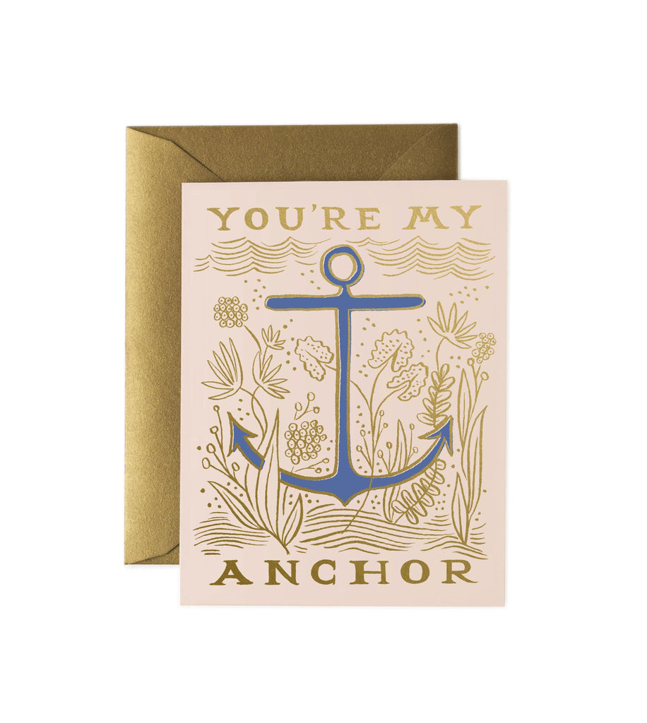 My Anchor - Valentines Greetings Card by Rifle Paper Co