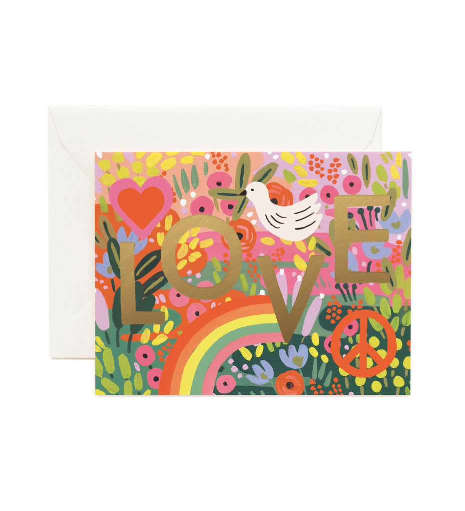 All You Need Is Love - Valentines Greetings Card by Rifle Paper Co