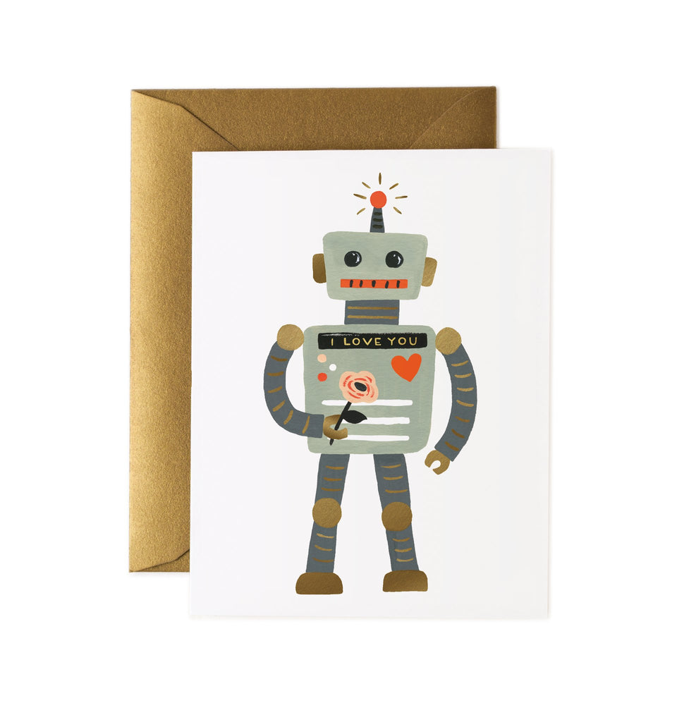 Love Robot - Valentines Greetings Card by Rifle Paper Co