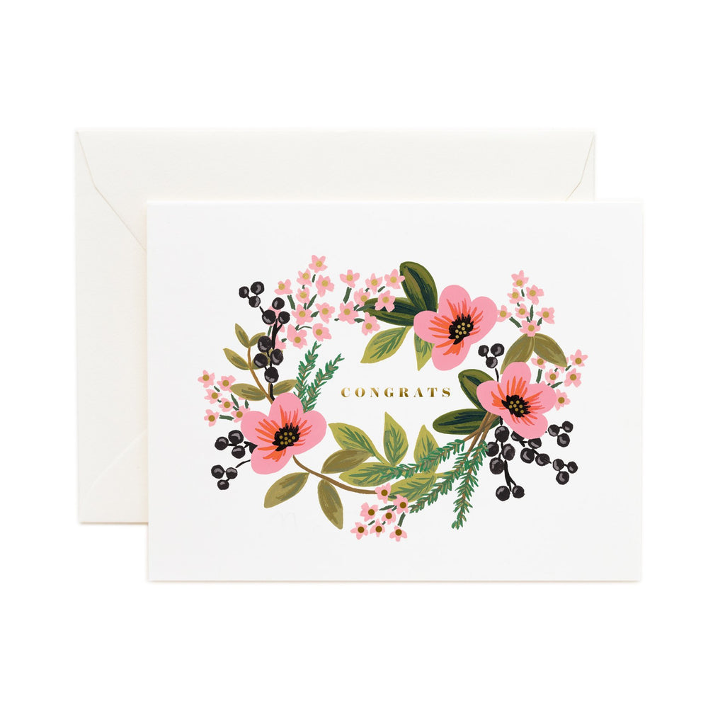 Congratulations Bouquet - Greetings Card by Rifle Paper Co