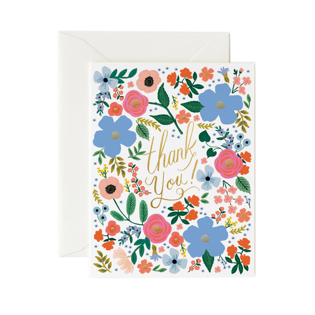 Wild Rose - Thank You Card by Rifle Paper Co