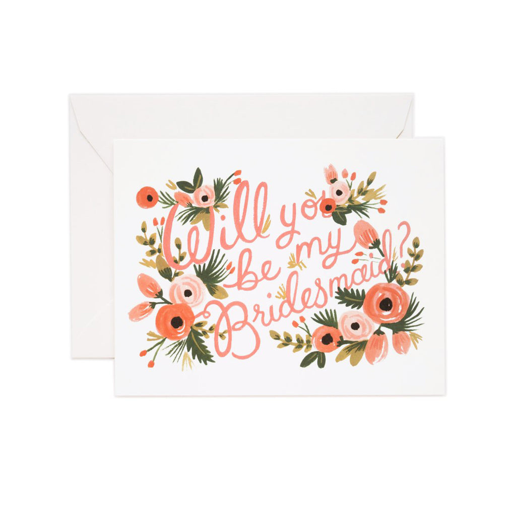 Will You Be My Bridesmaid? Greetings Card by Rifle Paper Co
