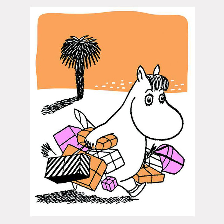 Moomin Present Time Letterpress Greetings Card