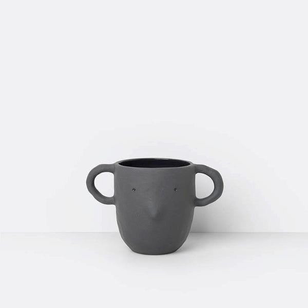 'Mus' Plant Pot, Large Dark Grey