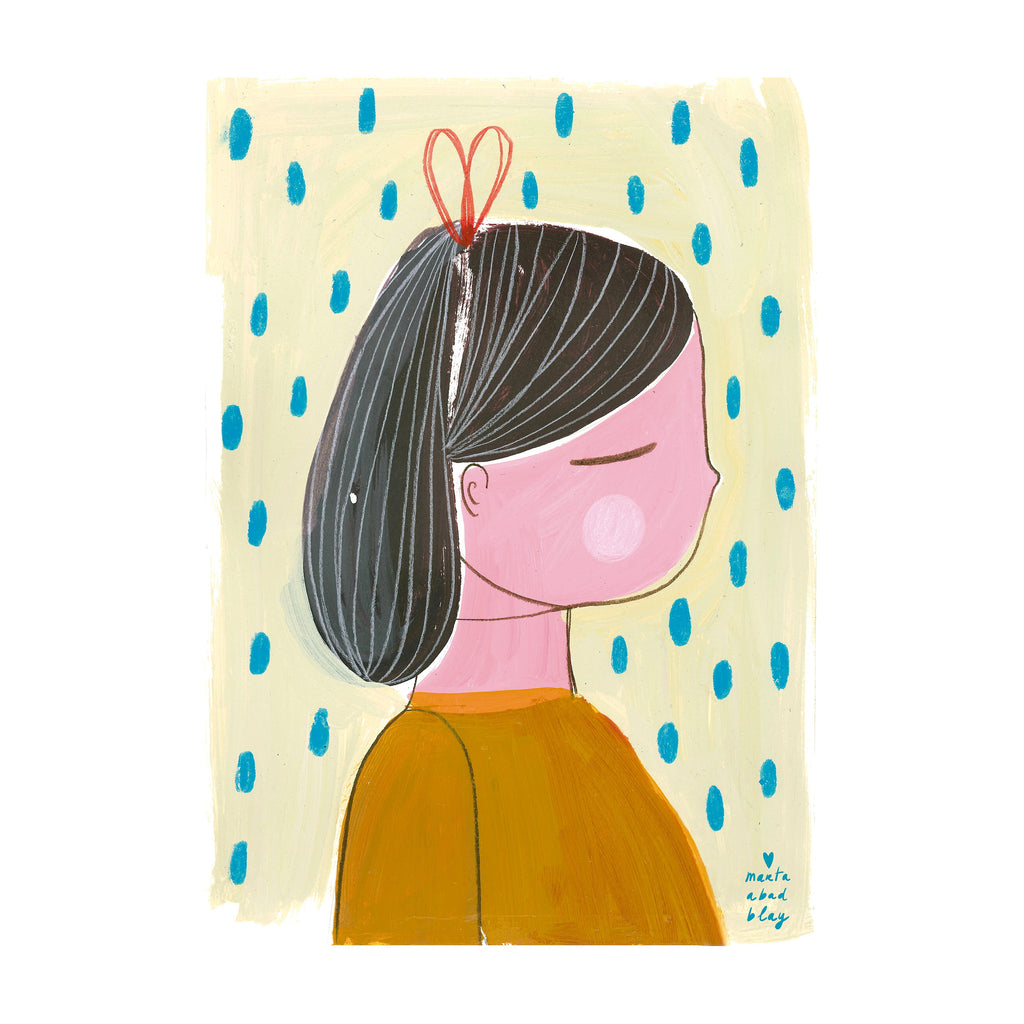 A3 Girl 1 Print by Marta Abad Blay