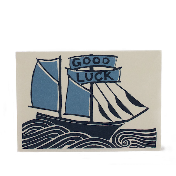 Good Luck Ship Card