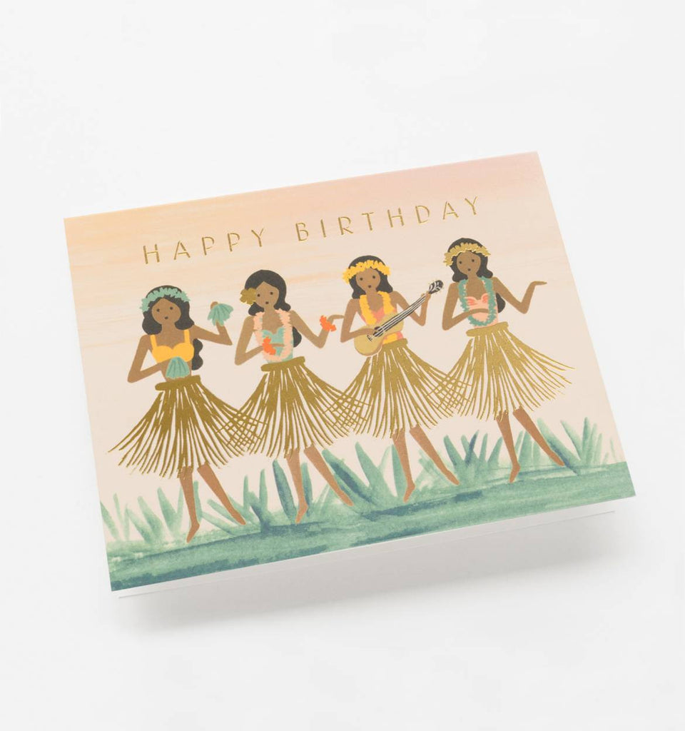 Hula Girls Rifle Paper Co Birthday Card