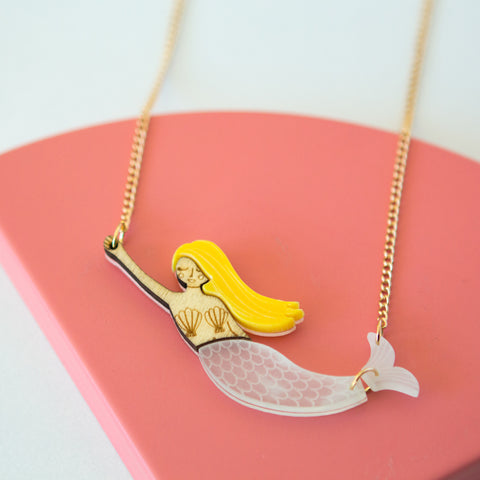 Acrylic Mermaid Sweet Thing Necklace