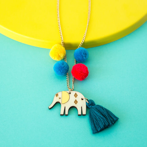 Wooden Elephant Sweet Thing Necklace