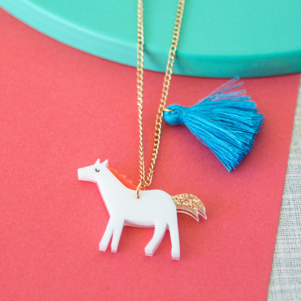 Acrylic Horse Sweet Thing Necklace