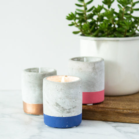 Fig & Olive Soywax Candle in Concrete