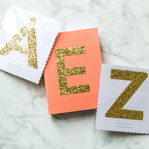 Large Gold Alphabet Sticker