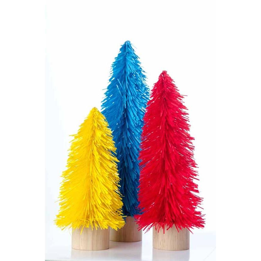 Large Retro Tinsel Tree - Blue