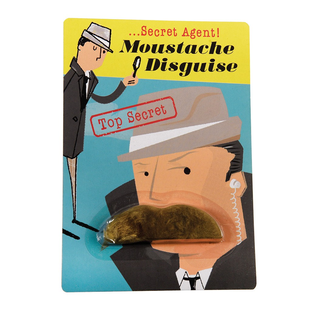 Moustache Secret Agent Disguise