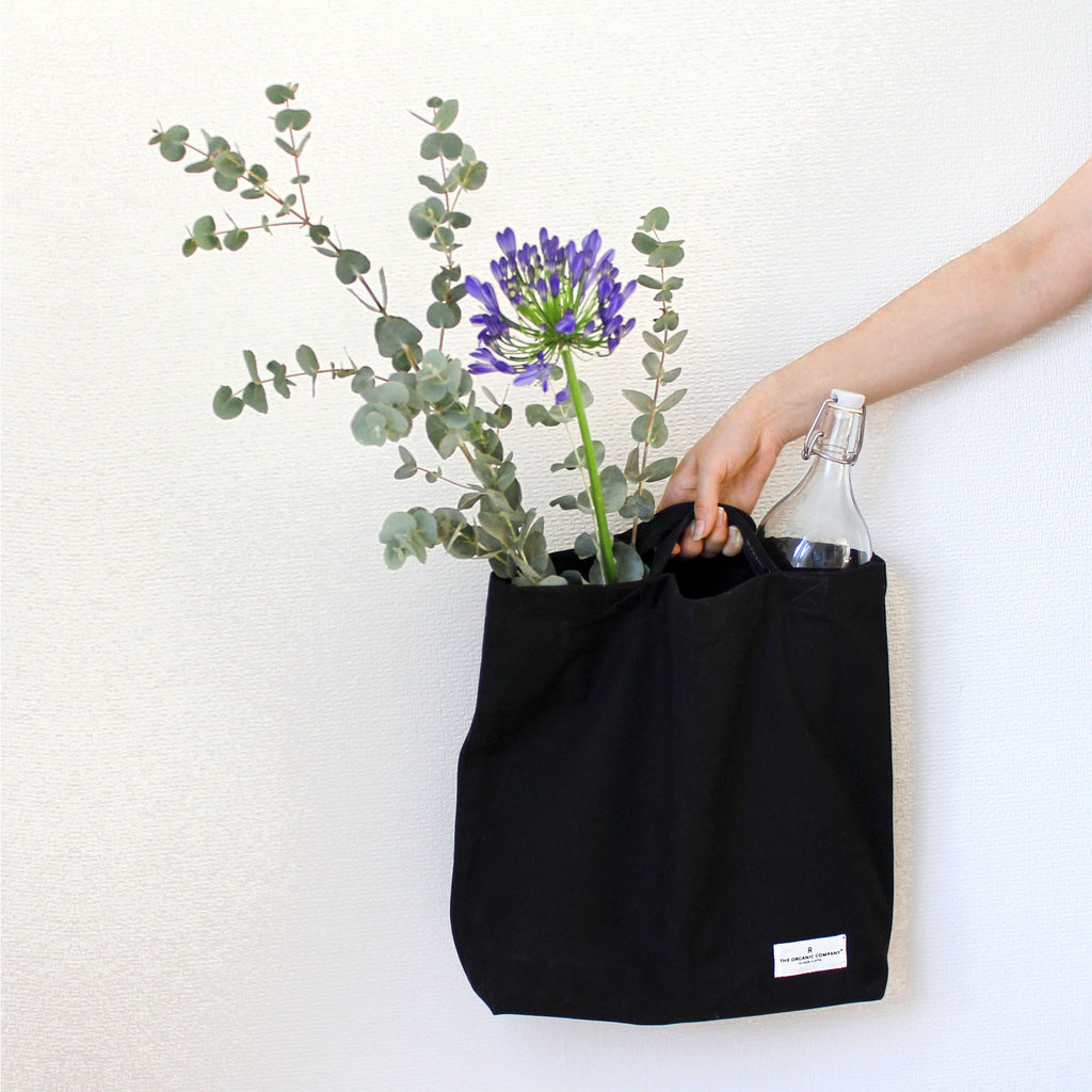 Organic Cotton Tote Back - Black
