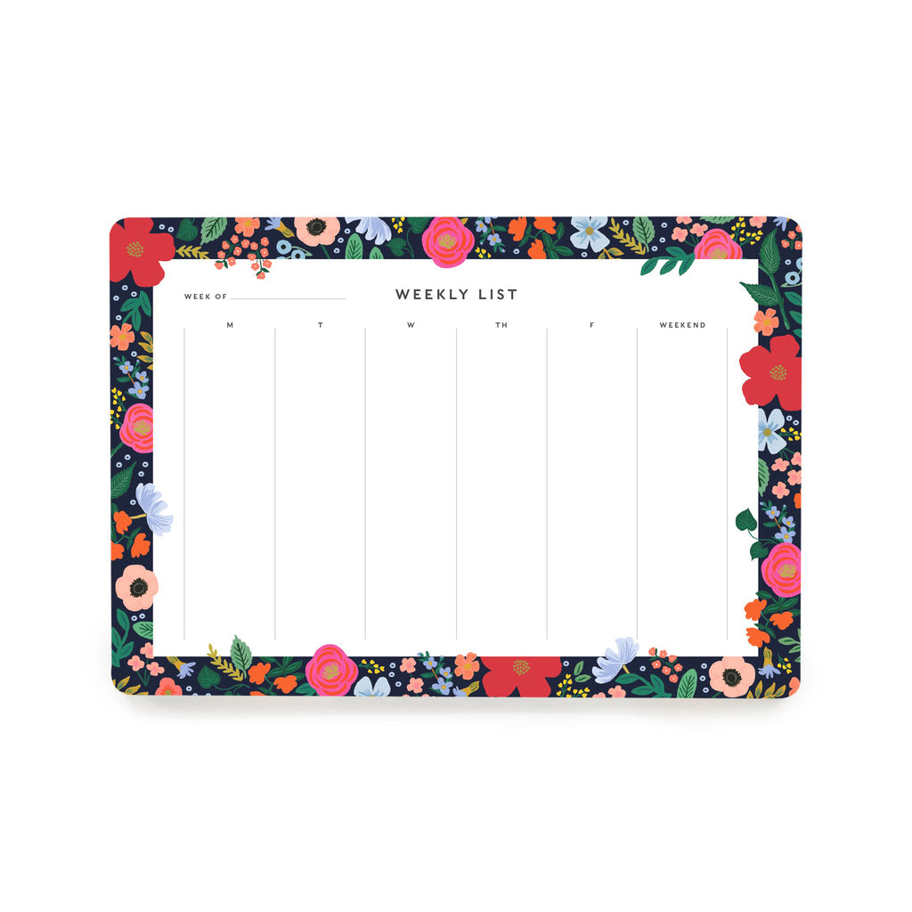 Weekly Desk Pad - Wild Rose