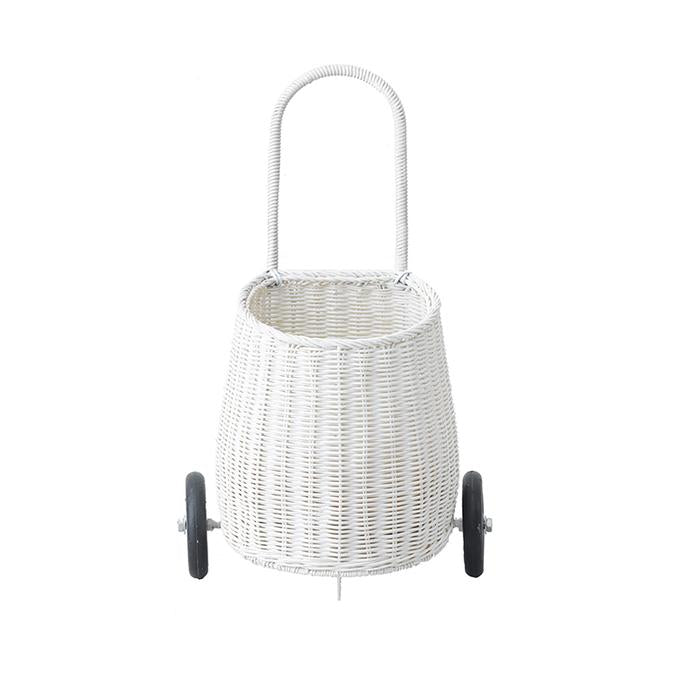 Olli Ella Little Luggy Basket - White