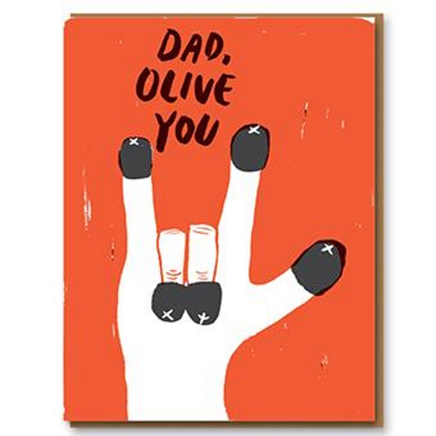 Olive You Dad Father's Day Card