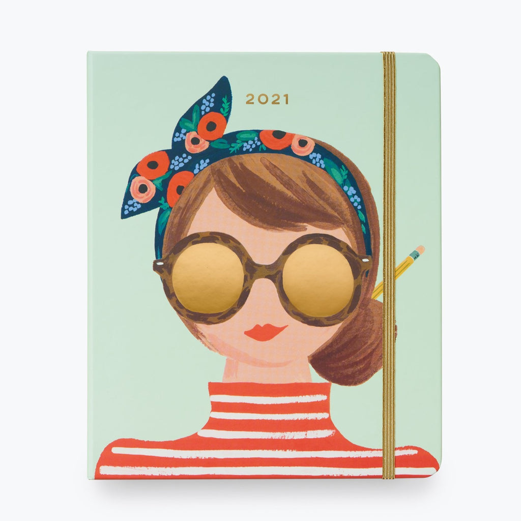 2021 Girl Covered Planner - 17 Month