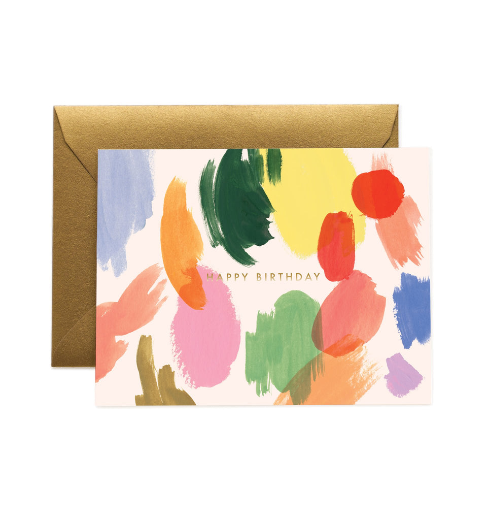 Palette Birthday - Greetings Card by Rifle Paper Co