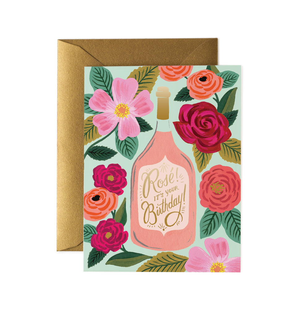 Rosé Wine Birthday - Greetings Card by Rifle Paper Co
