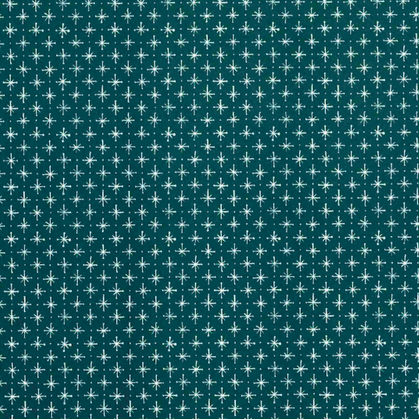 Little Stars 'Petrol Blue' Wrapping Paper