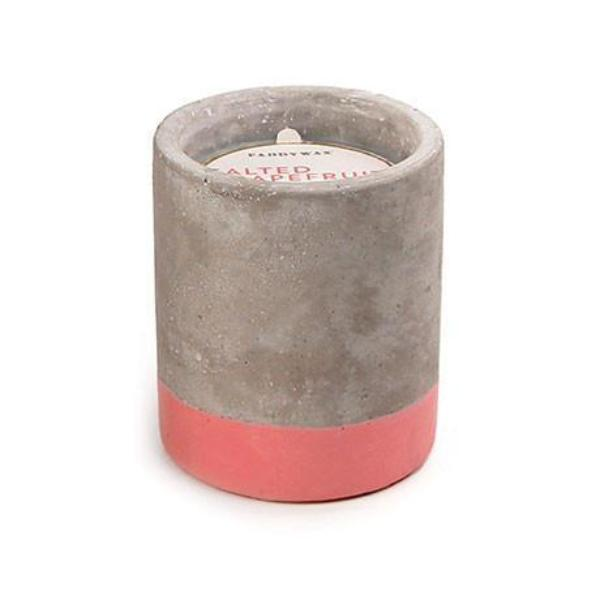 3.5oz Salted Grapefruit Soywax Candle in Concrete