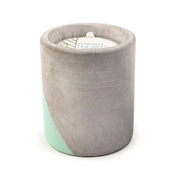 12oz Sea Salt & Sage Soywax Candle in Concrete