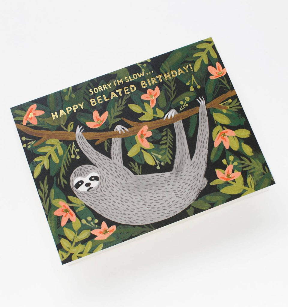 Sloth Belated Birthday Card by Rifle Paper Co