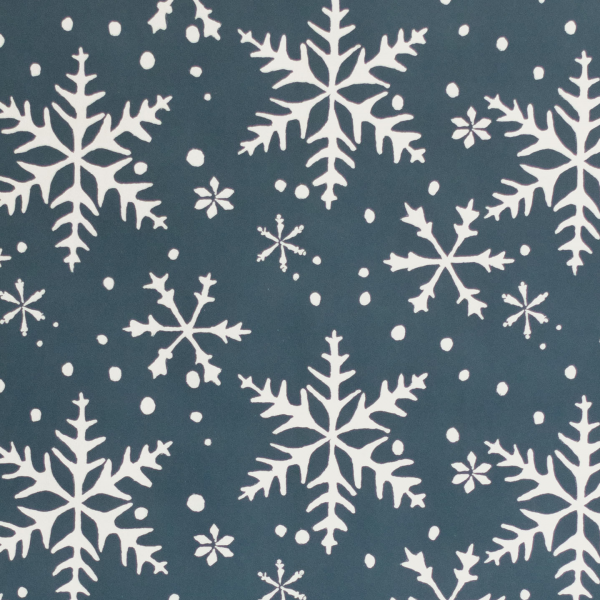 Blue 'Snowflake' Wrapping Paper