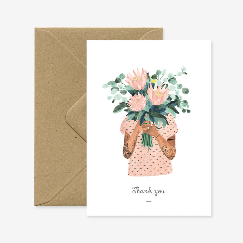 Tattoo girl – Thank you Card