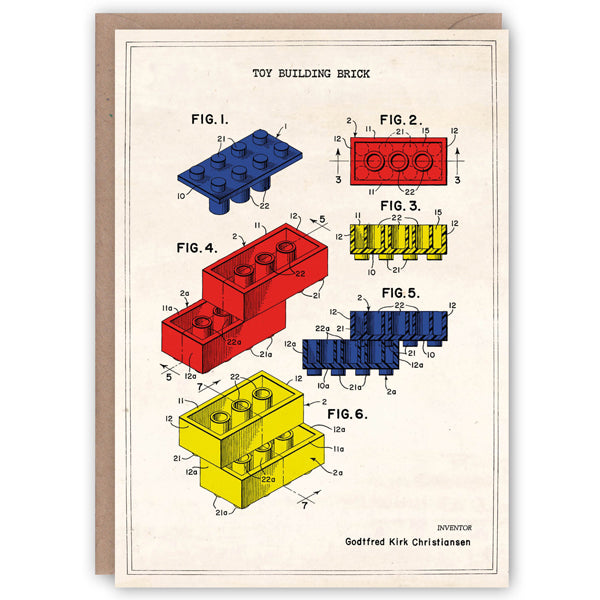 Patent Application Card - Lego