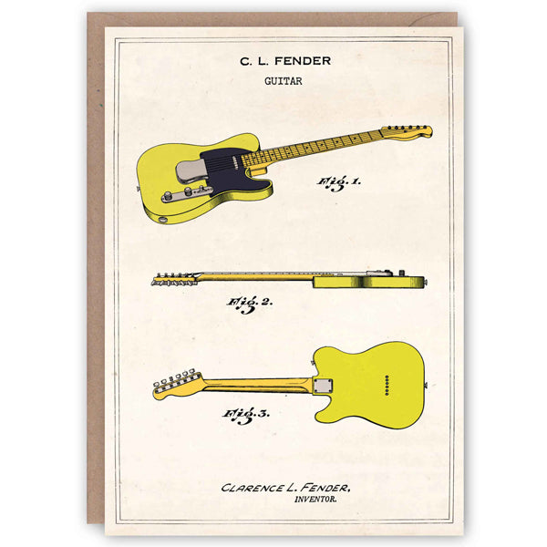 Patent Application Card - Fender Telecaster